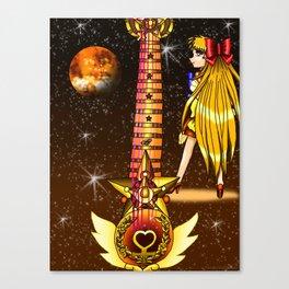 Sailor Moon Guitar #3 - Sailor Venus (Minako Aino) Canvas Print