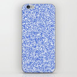 Tiny Spots - White and Royal Blue iPhone Skin