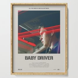 Baby Driver (2017) Minimalist Poster Serving Tray