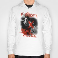 fitzgerald Hoodies featuring F- Scott. Read Zelda. by Jack Shoegazer