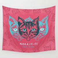 dublin Wall Tapestries featuring MOLLYCAT - Dublin - Helsinki by Alan Hogan