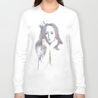 crown Long Sleeve T-shirts featuring Crown by Ivanna Stefanova