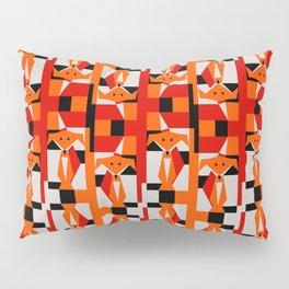 Geometric Dancing Foxes Pillow Sham