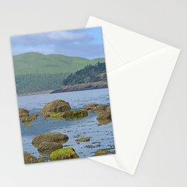 ORCAS ISLAND LOW TIDE MORNING ON TURTLEBACK MOUNTAIN Stationery Cards