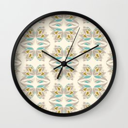 Art deco abstract butterflies in light pastel colors Wall Clock