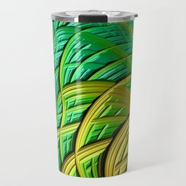 patterns green yellow string Travel Mug