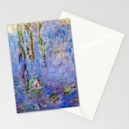 Claude Monet famous artwork Water Lilies - France Stationery Cards