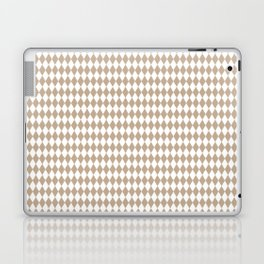 Pantone Hazelnut Rippled Diamonds, Harlequin, Classic Rhombus Pattern Laptop & iPad Skin