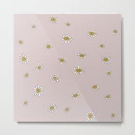 Minimalist Daisies (Dusty Blush Pink) Metal Print