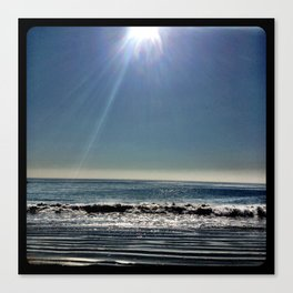 Sun over the waves. Canvas Print