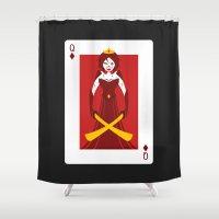berserk Shower Curtains featuring Queen of Diamonds - Berseker queen by Thirdway Industries Shop