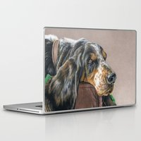 the hound Laptop & iPad Skins featuring Hound Dog by Sarahphim Art