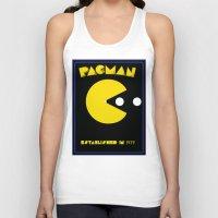 pac man Tank Tops featuring pac-man by CJones5105