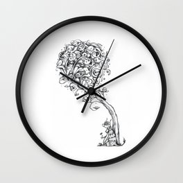 The Story Of Ferdinand (Psychedelic Bull Drawing) Wall Clock
