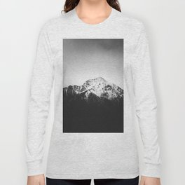 Black and white snowy mountain Long Sleeve T-shirt