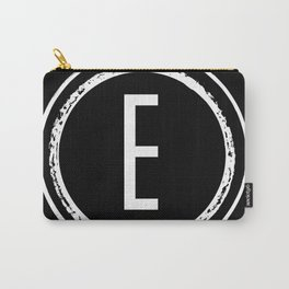 Letter E Monogram Carry-All Pouch