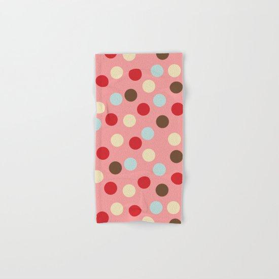 Christmas dots pink Hand & Bath Towel