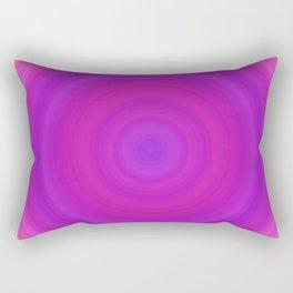 Orange & Purple Gradient Circles Rectangular Pillow