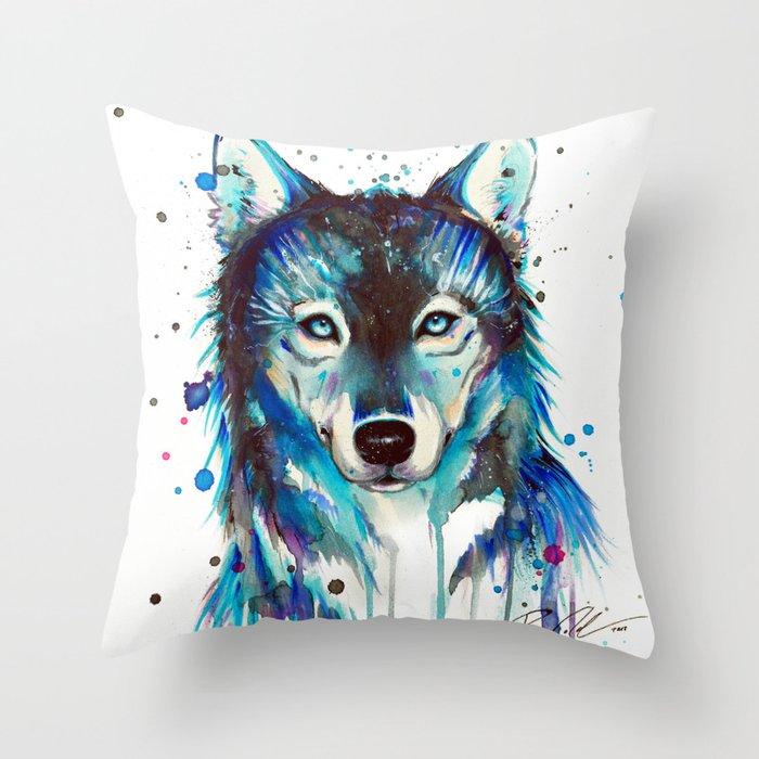 -Dark Wolf- Throw Pillow