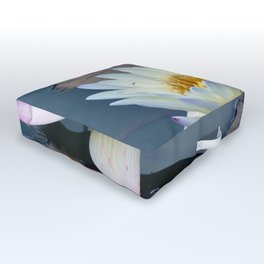 Water Lily in Pond Outdoor Floor Cushion