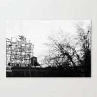 portlandia Canvas Prints featuring Portlandia - White Stag Sign by Kyle J. Glenn