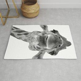 Black and White Giraffe Face Rug