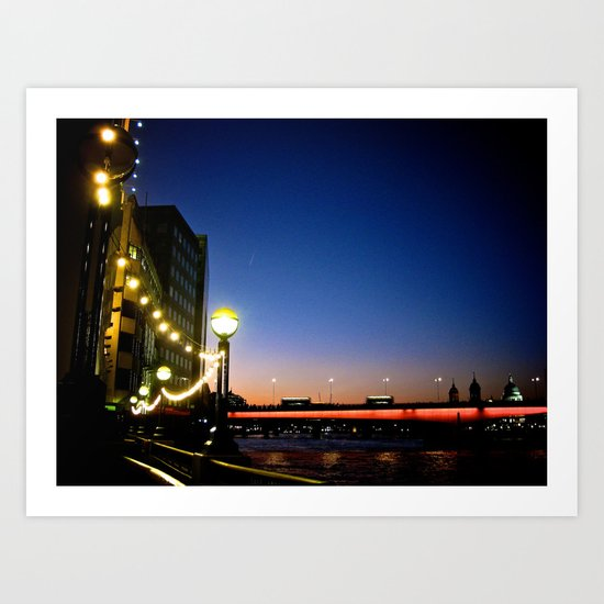 London Nightline Art Print
