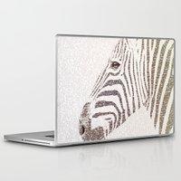 kafka Laptop & iPad Skins featuring The Intellectual Zebra by Paula Belle Flores
