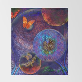 Sheikh Lutfollah Mosque Flower Throw Blanket