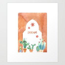 Cactus Palace Art Print