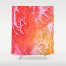 Abstract Cells 3 Shower Curtain