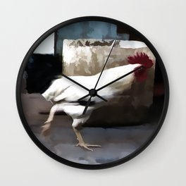 Run chicken run ! Wall Clock