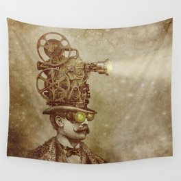The Projectionist (sepia option) Wall Tapestry