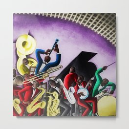 African American Masterpiece 'Harlem Frontispiece for Handy's Blues' by Miguel Covarrubias Metal Print
