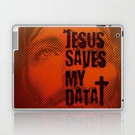 Jesus saves my data Laptop & iPad Skin
