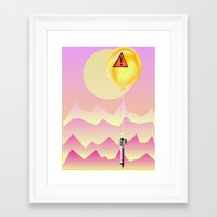 bombs away Framed Art Prints featuring Bombs Away by charles lee