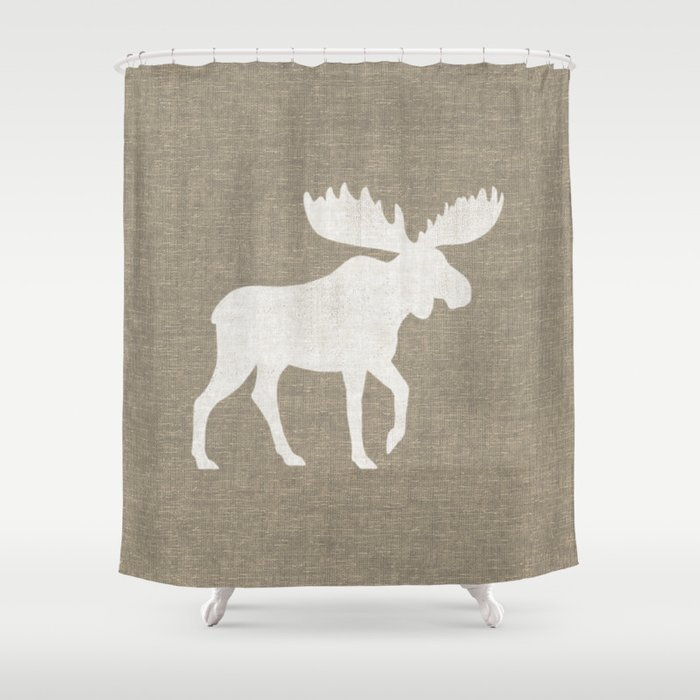 Moose Silhouette Shower Curtain by mylifeisacartoon   Society6