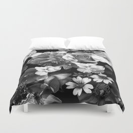 Black Floral Duvet Cover