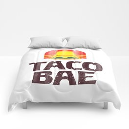 Taco Bae Vintage Print Comforters