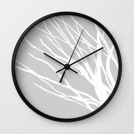 Gray Blues Wall Clock