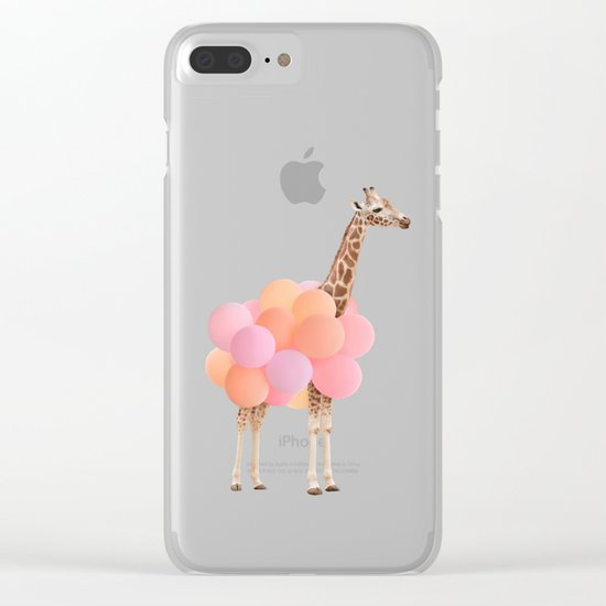 GIRAFFE PARTY Clear iPhone Case