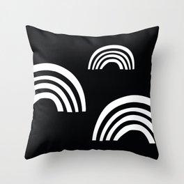Black & white rainbow  Throw Pillow