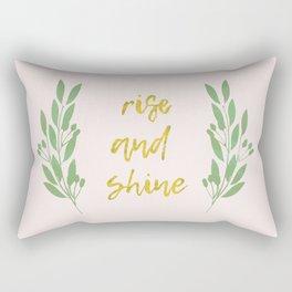Rise and shine | motivational print | handlettering Rectangular Pillow