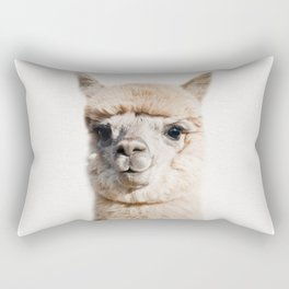 Baby Alpaca, Baby Animals Art Print By Synplus Rectangular Pillow