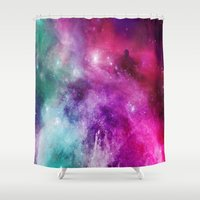 xmas Shower Curtains featuring MASON by Kali Laine Photography