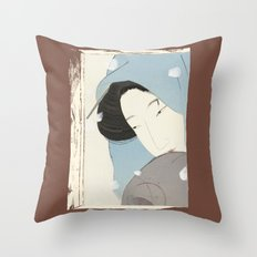 On the outside, Looking In Throw Pillow