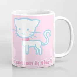 Taxation Is Theft Kitty Coffee Mug
