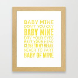 Baby Mine, Song From Dumbo Framed Art Print