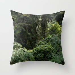 """Travel and nature photography """"Green mysterious forest on Skopelos island"""" in Greece. Fine art photo print in color.  Throw Pillow"""