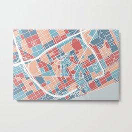 Detroit map Metal Print